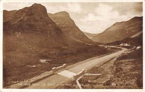 uk3259 the new glen coe road at the pass of the glen coe scotland real photo uk
