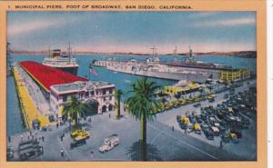 California San Diego Municipal Piers Foot Of Broadway
