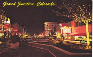 Main Street at Night , GRAND JUNCTION , Colorado , 40-60s