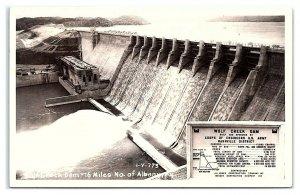 RPPC Wolf Creek Dam near Albany, KY Real Photo Postcard *7C(2)3