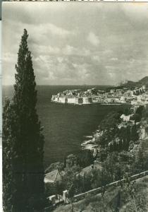 Croatia, Dubrovnik, 1957 used real photo Postcard