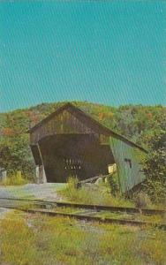 Covered Bridge Bartonsville Railroad Covered Bridge At Bartonsville Vermont