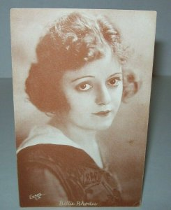 Billie Rhodes Postcard Unused Vintage American Actress Silent Films Arcade Card