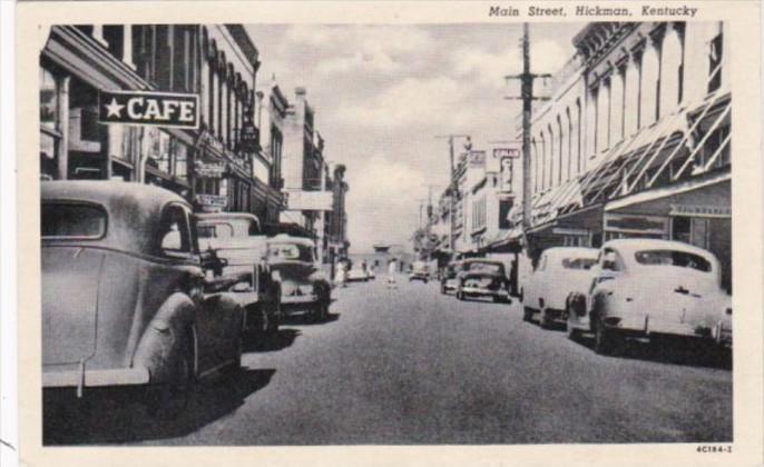 Kentucky Hickman Main Street Old Cars Curteich