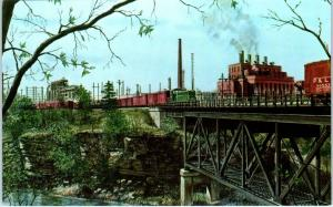 PITTSBURGH, PA Pennsylvania  RAILROAD TRESTLE at KOPPERS Co.   c1950s   Postcard