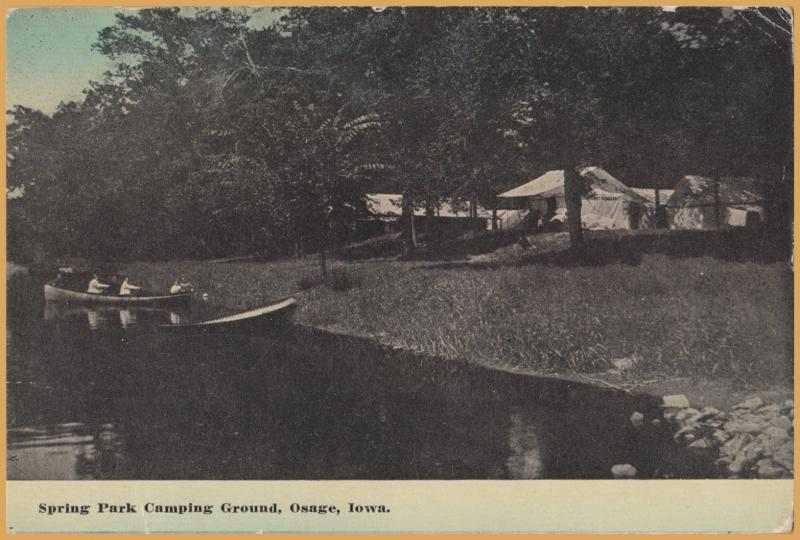 Osage, Iowa, Spring Park Camping - 1914