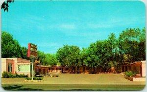 Colorado Springs CO Postcard MECCA MOTEL Highway 24 Roadside Dexter Chrome 1950s