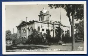 Court House Caldwell Idaho id real photo postcard RPPC
