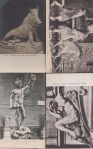 Firenze Beheading La Notta Horses Cinghiale Animal 4x Sculpture Italy Postcard s