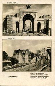 Italy -  Pompeii, Before & After. Door of Herculanes