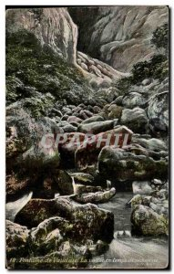Old Postcard Fontaine de Vaucluse La Vallee in times of Drought