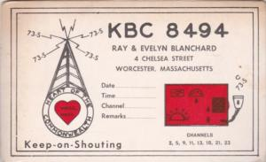 Amateur Radio KBC 8494 Ray & Evelyn Blanchard Worcester Massachusetts