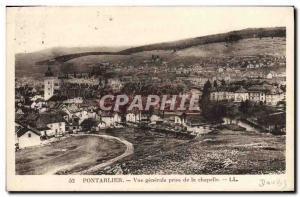 Old Postcard Pontarlier Vue Generale De La Chapelle Jack Stamp Daguin
