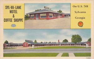 SYL-VA-LANE Motel , on U.S. 301 , SYLVANIA , Georgia , 30-40s