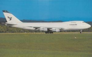 Boeing 747-2J9F Plane of Iran Air Airlines at Zurich Airport Postcard