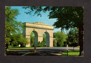 CT Perry Memorial Arch Park Ave Seaside Park Bridgeport Connecticut Postcard