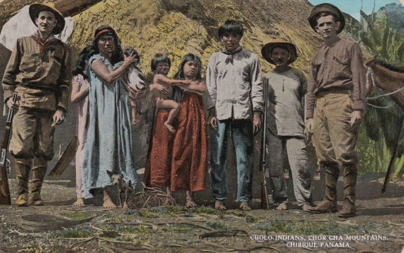 Panama Chiriqui Chor Cha Mountains Cholo Indians sk1594a