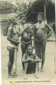 CPA AK Senegal Ethnic Nude Fortier - 22. Lastoursville - Femmes Adoumes (70837)