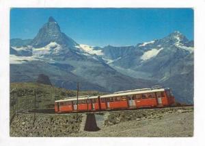 Gornergratbahn mit Matterhorn, Switzerland, 50-60s