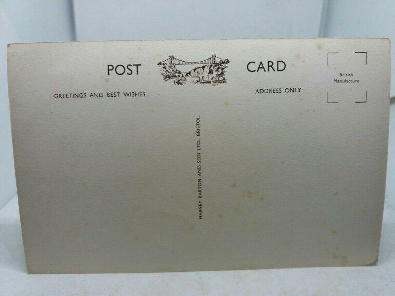 Vintage Postcard Budleigh Salterton Beach and Cliffs 1950s