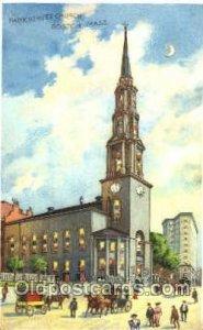 Park Street Church, Boston, MA Hold to Light Postcard Postcards Park Street C...