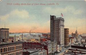 Louisville Kentucky Birds Eye View @ Court House~Bridge~Schupp & Schmitt Co~'14