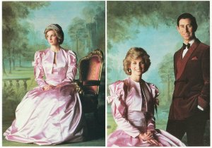 Princess Diana and Prince Charles Early 1980s Portrait by Lord Snowdon Postcards