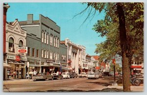 Ann Arbor MI~State Street~Slater's Books~Wikel Robinson Drugs~Bicycles~1968 Cars