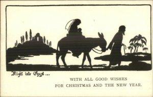 Christmas New Year Flight to Egypt Mary Jesus Nativity Silhouette SB Pearse