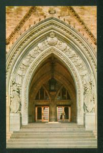 Main Entrance Peace Tower House of Parliament Ontario Canada Postcard