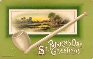 St Patrick's Day Greetings John Winsch St. Patrick's Day Postcard w...