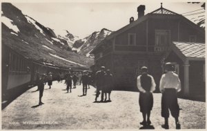 RP ; Myrdal , Aurland, Norway , 1910-20s ; Train at Railroad Station