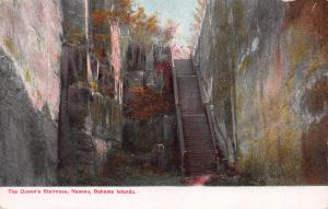 The Queen's Staircase, Nassau, Bahama Islands, Early Postcard, unused