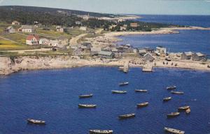 Aerial View, Neil's Harbour, Boats, Cape Breton, Nova Scotia, Canada, PU-1964
