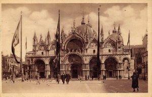 Vintage 1935 Venice Italy Postcard, Basilica of St. Mark, Venezia Italia AY9