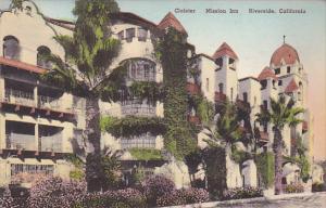 Cloister Mission Inn Riverside California Handcolored Albertype