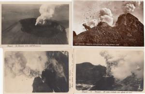 Mount Vesuvius Eruption Real Photo WW2 Newspaper 4x Postcard Bundle