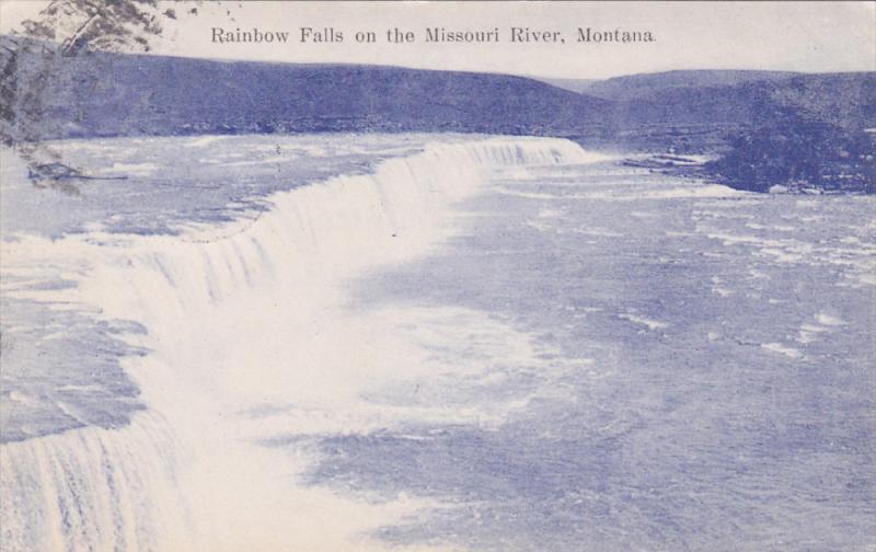 Rainbow Falls on the Missouri River, MONTANA, PU-1909