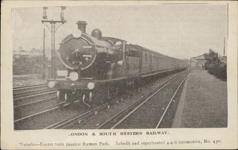 South Western Railway waterlo Exter Ravnes Park Railroad Train newspaper clipped