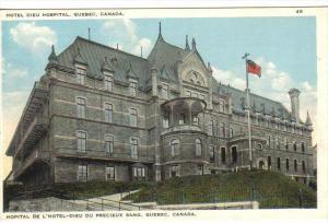 QUEBEC, Canada, 1900-1910´s; Hotel Dieu Hospital