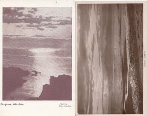 Sunset Seamill 2x Antique Scottish Sunset Aberdeen Old WW1 Postcard s