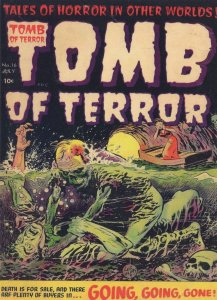 Tomb Of Terror 1950s Comic Book Swamp Thing Monster Postcard