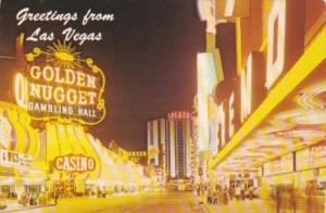 Greetings From Las Vegas Fremont Street At Night