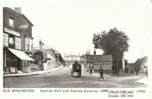Hampshire Postcard - Old Winchester - Station Hill & Station Exterior c1909 -U39
