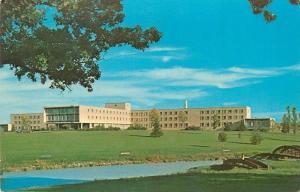 Rural Branch Minnesota~St. Paul Bible College~Foot Bridge~1960s Postcard
