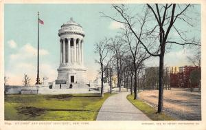 New York City~Soldiers & Sailors Monument~Trees by Unpaved Street~1903 Phostint