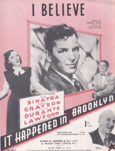I Believe It Happened In Brooklyn Frank Sinatra 1940s Sheet Music