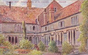 AS, The Old Men's Hospital View Of The Cloisters, Norwich (Norfolk), England,...