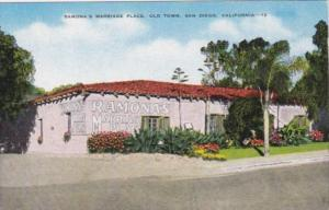 California San Diego Ramona's Marriage Place In Old Town