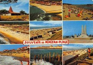 France Mimizan Plage Nouvelle Eglise Plage Le Courant Beach 1973 Postcard
